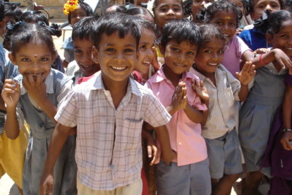 Kids, group, India