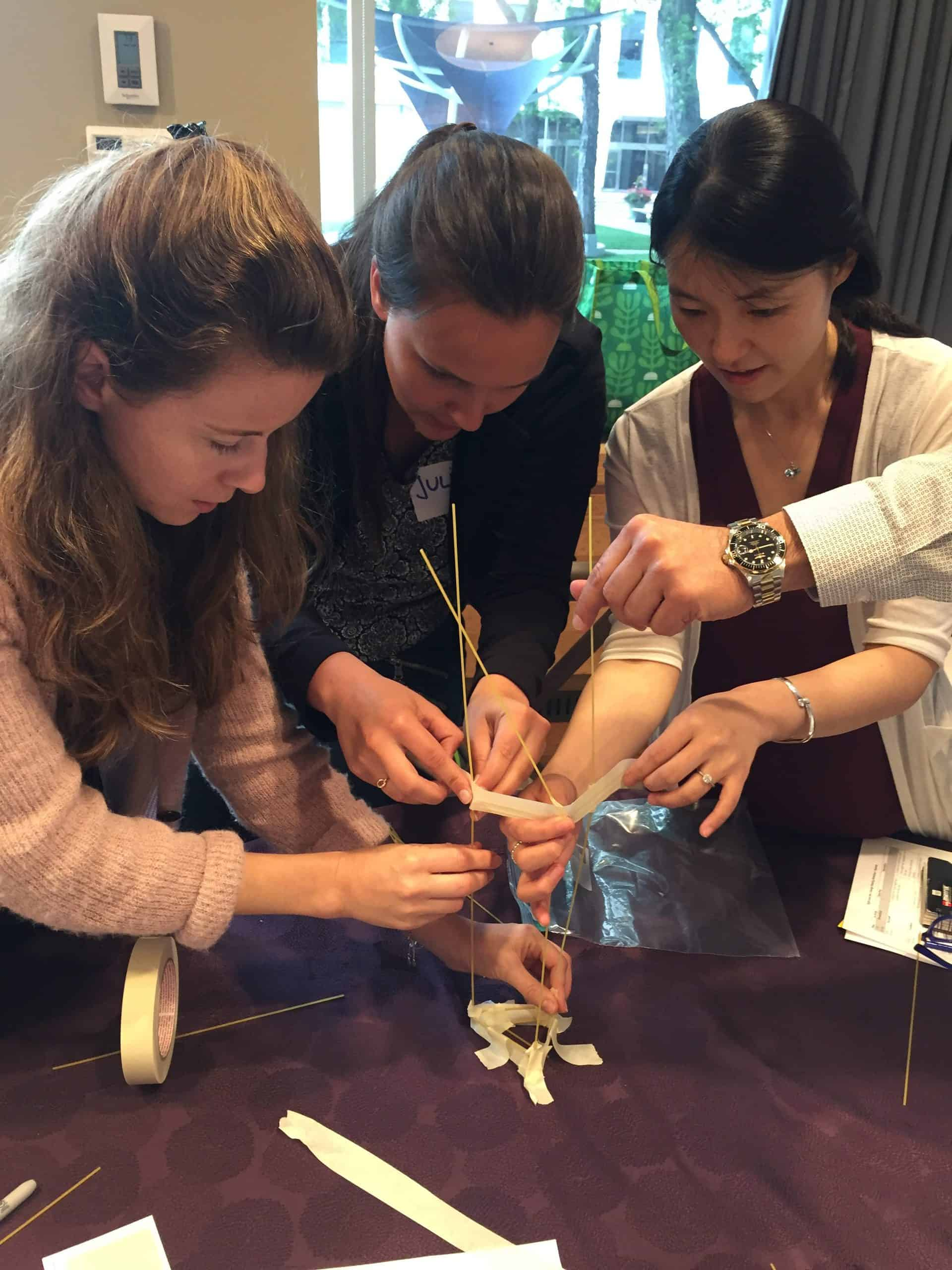 marshmallow challenge, sight life, retreat, design thinking