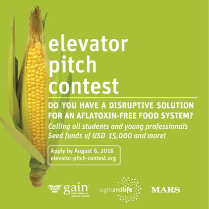 EPC, GAIN, Aflatoxin, Elevator Pitch Contest