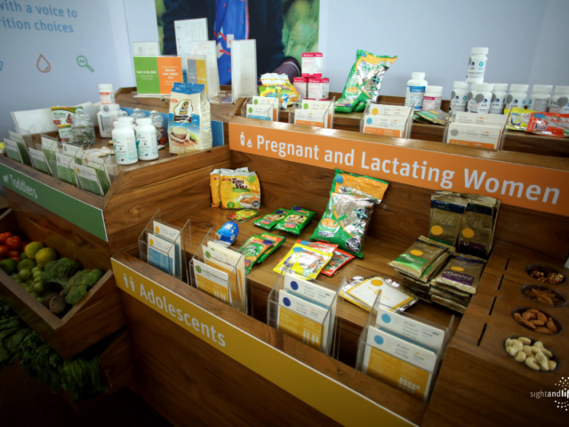 Nutrition Kiosk, Sight and Life, Nutrition, last mile, whole fruit, packaged products, products, vitamins