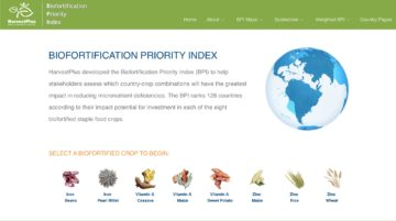 Biofortification tool, harvestplus