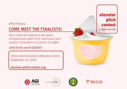 EPC, Sight and LIFe, Elevator Pitch Contest, Ghana, nutrition, food products