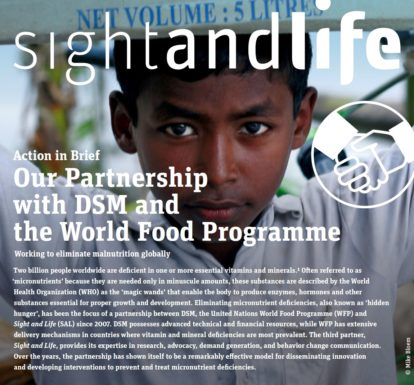 Sight and Life, DSM, WFP, World Food Program, UN United Nations, MNP
