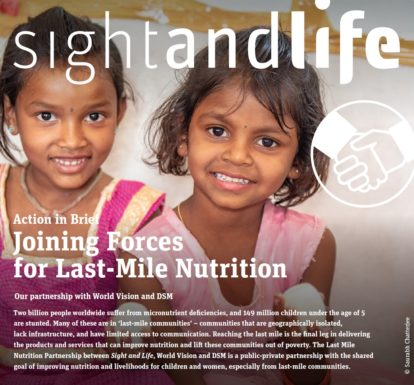 sight and life, eggs, nutrition, world vision, DSM